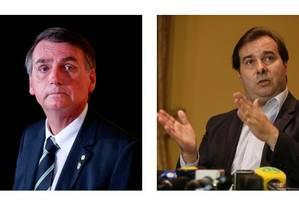 Os pré-candidatos Jair Bolsonaro e Rodrigo Maia Foto: Foto/Montagem