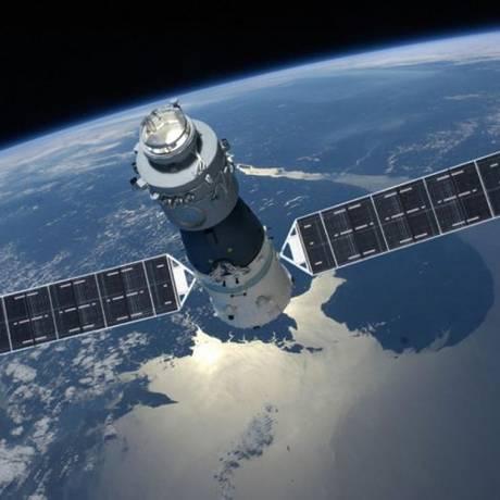A Tiangong-1 foi lançada em 2011 e recebeu duas missões tripuladas Foto: CNSA