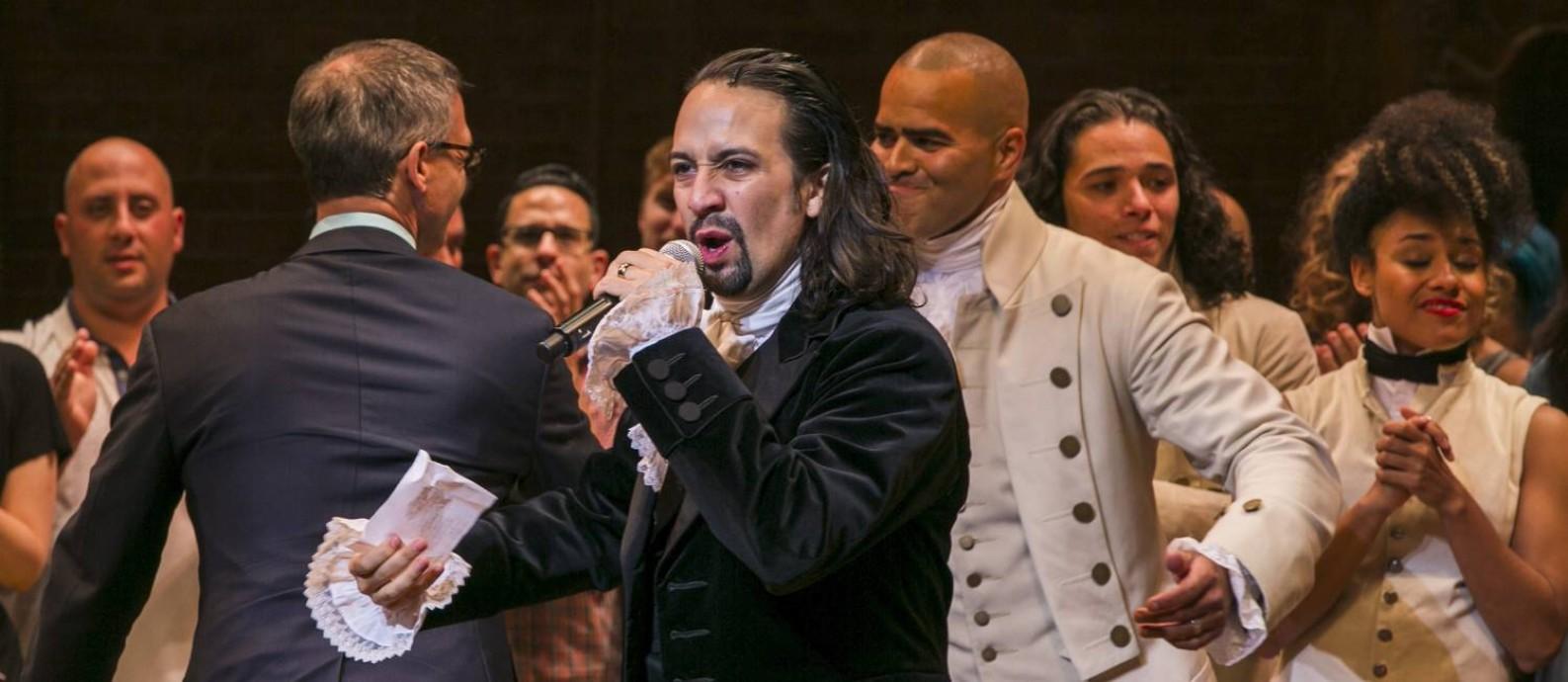 Lin-Manuel Miranda, autor e ator do musical 'Hamilton' Foto: Lucas Jackson / Reuters