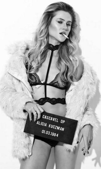 A modelo Alicia Kuczman Paulo Reis