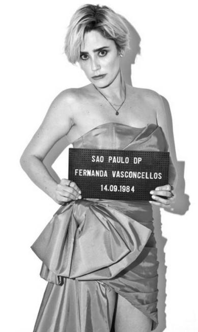 A atriz Fernanda Vasconcellos Paulo Reis
