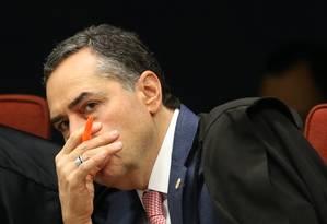 O ministro do Supremo Tribunal Federal (STF) Luís Roberto Barroso, durante sessão da primeira Turma do Supremo Foto: Ailton de Freitas / Agência O Globo
