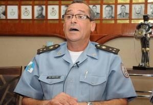 Coronel Erir quando era comandante da PM (Arquivo) Foto: Nina Lima / Agência O Globo