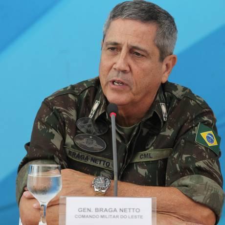 General Walter Braga Netto, interventor na segurança do Rio de Janeiro Foto: Ailton de Freitas