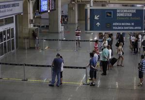 Movimentação no aeroporto do Galeão. Foto Pablo Jacob / Agencia O Globo Foto: Pablo Jacob / Agência O Globo