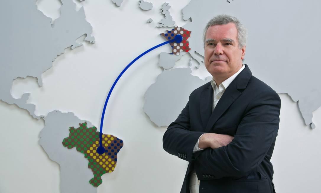 """""""No Brasil, há um ecossistema favorável para o segmento da e-Saúde"""", diz o presidente mundial da Servier Olivier Laureau Foto: Washington Aszmann / Divulgação"""