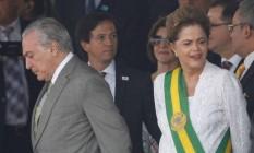 Michel Temer e Dilma Roussef durante sua posse, em 2011 Foto: André Coelho / Agência O Globo