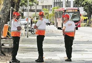Reforço. Agentes do projeto passam a atuar em dois bairros da zona sul. Foto: Brenno Carvalho / Agência O Globo