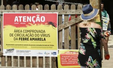 Na Ilha Grande, moradores e turistas são alertados sobre os riscos da doença Foto: Gabriel de Paiva/2-3-2018