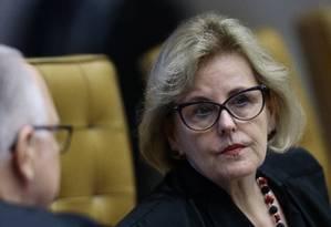 A ministra Rosa Weber, durante julgamento do STF Foto: Jorge William/Agência O Globo/01-03-2018