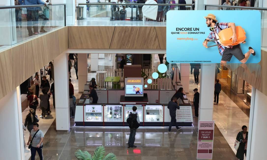 e7bebc419 A Nannybag oferece espaços de armazenamento em shoppings, como este em  Paris Foto: Nannybag