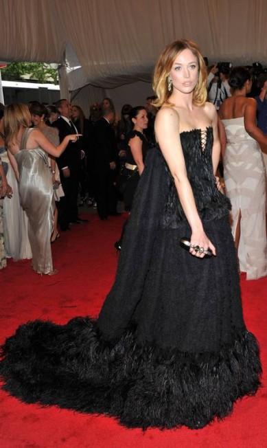 Tapete vermelho: Raquel no baile de gala do MET, em 2011 Stephen Lovekin / Getty Images