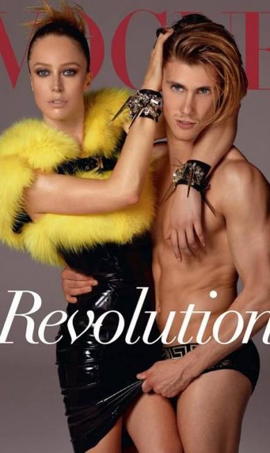 """Ela é top, é capa de revista. Raquel para a """"Vogue"""" Itália Divulgação"""