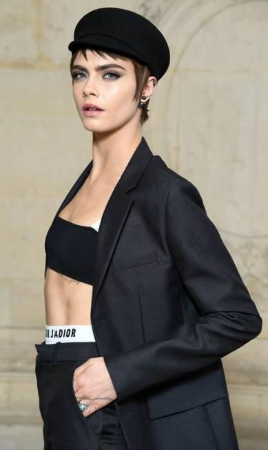 Em segundo lugar, mas sem ameaçar o reinado de Kendall, está a top inglesa Cara Delevingne, com mais de 57,6 milhões de seguidores virtuais Pascal Le Segretain / Getty Images for Christian Dior