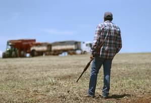 No interior de Goiás, fazendeiros contratam seguranças armados Foto: Jorge William / Agência O Globo