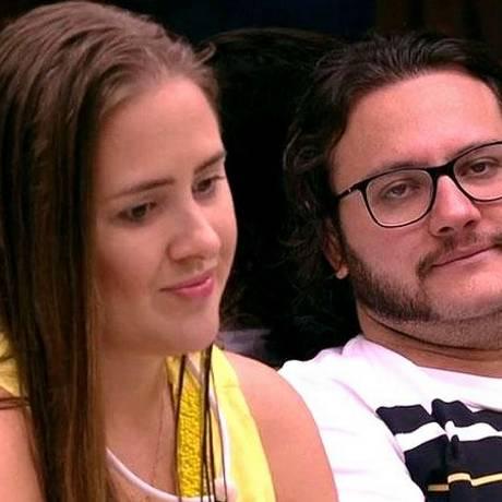 Patrícia e Diego estão no paredão desta semana Foto: Reprodução