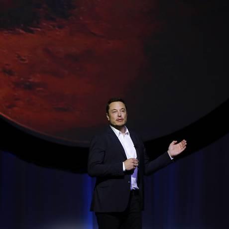 Elon Musk tem como objetivo criar uma colônia autossustentável em Marte Foto: Susana Gonzalez / Bloomberg