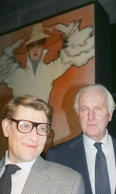 1991: Hubert de Givenchy e Yves Saint Laurent PIERRE GUILLAUD / AFP