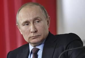 Putin participa de fórum de agricultores em Krasnodar, dias antes da eleição na Rússia Foto: SPUTNIK / REUTERS