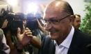O governadorde São Paulo, Geraldo Alckmin, participa da reunião da executiva do PSDB 07-02-2018 Foto: Jorge William / Agência O Globo