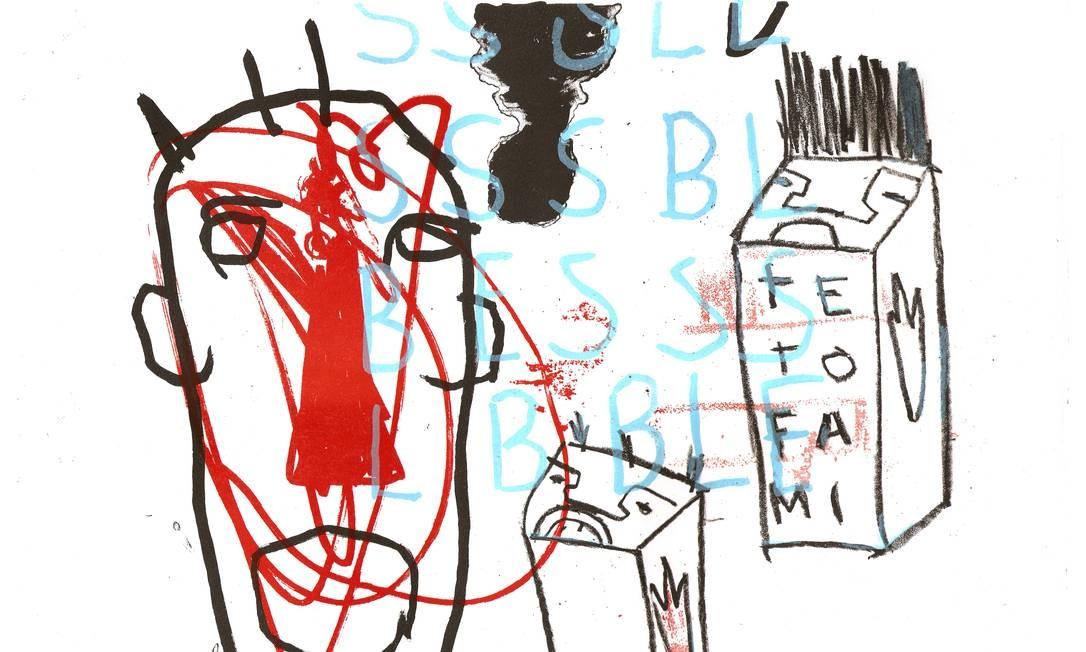 O Estúdio Baren ocupa, junto com o artista Antonio Bokel (obra em destaque; litogravura, 2010), uma casa de dois andares com duas salas de impressão, uma de trabalho para os artistas, área de secagem de papel e um espaço de manipulação para matrizes. Foto: Divulgação