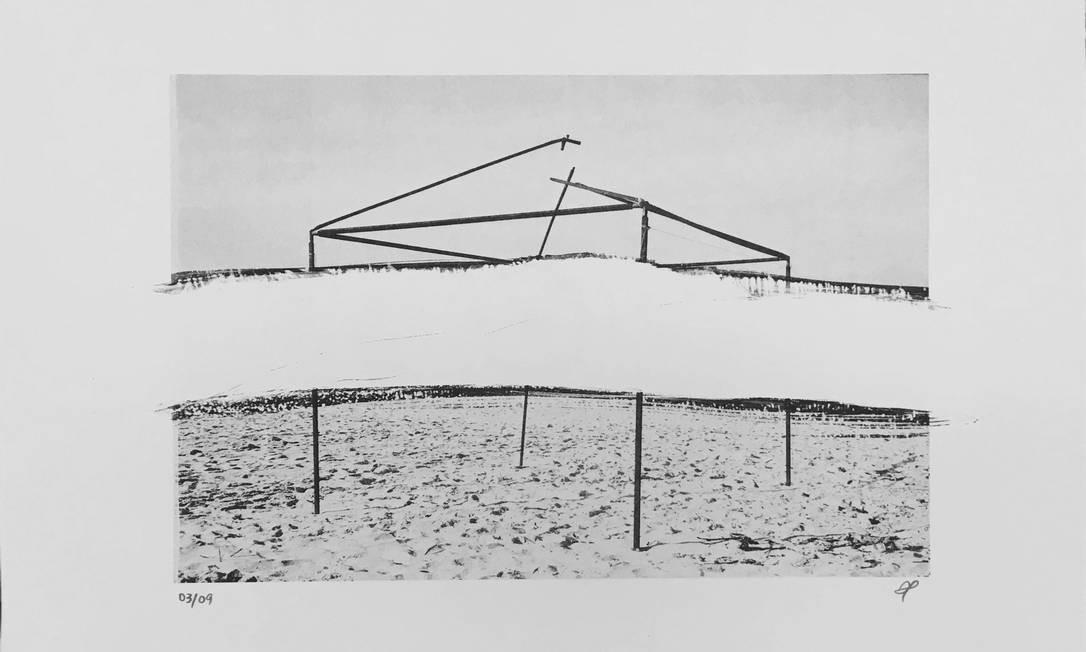 As obras misturam métodos tradicionais e contemporâneos aplicados em xilogravuras, gravuras em metal, monotipias, fotogravuras em relevo e em Litogravuras, como a de Demian Jacob (foto). Divulgação