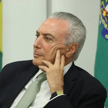 O presidente Michel Temer participa de cerimônia no Palácio do Planalto Foto: Ailton de Freitas / Agência O Globo