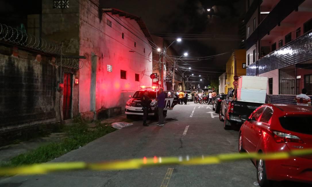 Chacina no Centro de Fortaleza Foto: Diário do Nordeste / Agência O Globo