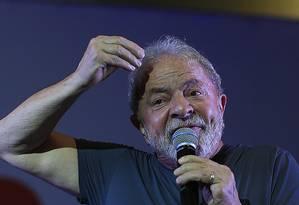 O ex-presidente Lula Foto: Edilson Dantas/Agência O Globo