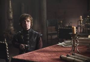 """""""Spin-offs"""" de Game of Thrones terão orçamento alto. Na foto o ator Peter Dinklage interpreta o personagem Tyrion Lannister Foto: HELEN SLOAN / Divulgação"""