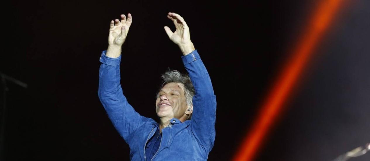 Bon Jovi bateu recorde de maior queda na lista da Billboard Foto: Pablo Jacob / Agência O Globo