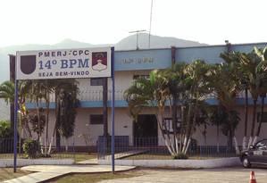 Batalhão da PM de Bangu (14ºBPM) Foto: Gabriel de Paiva / O Globo