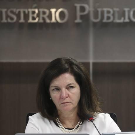 A procuradora-geral da República, Raquel Dodge, durante audiência pública Foto: Ailton Freitas/Agência O Globo/27-12-2018
