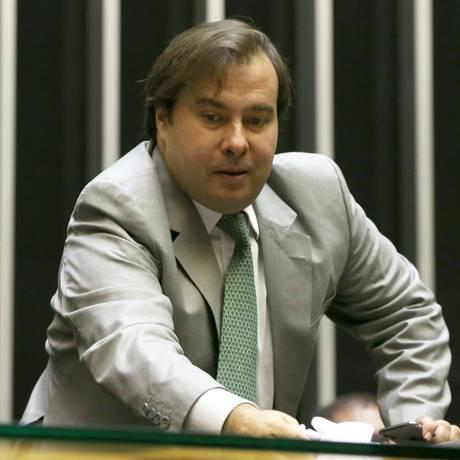 O presidente da Câmara, Rodrigo Maia, no plenário da Casa. 12/03/2018 Foto: Givaldo Barbosa / Agência O Globo