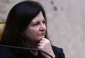 A procuradora-geral da República, Raquel Dodge, durante julgamento do STF Foto: Jorge William/Agência O Globo/01-03-2018