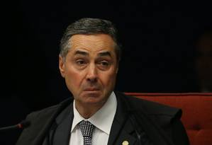 O ministro Luis Roberto Barroso, durante sessão da Primeira Turma do STF Foto: Ailton de Freitas / Agência O Globo