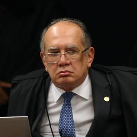 O ministro Gilmar Mendes, durante sessão da Segunda Turma do STF Foto: Givaldo Barbosa / Agência O Globo