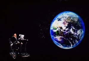 O físico britânico Stephen Hawking morreu nesta quarta-feira, aos 76 anos Foto: ANTHONY WALLACE / AFP
