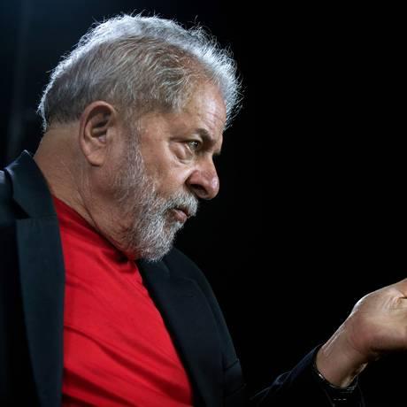 O ex-presidente Lula, durante entrevista Foto: Nelson Almeida/AFP/01-03-2018