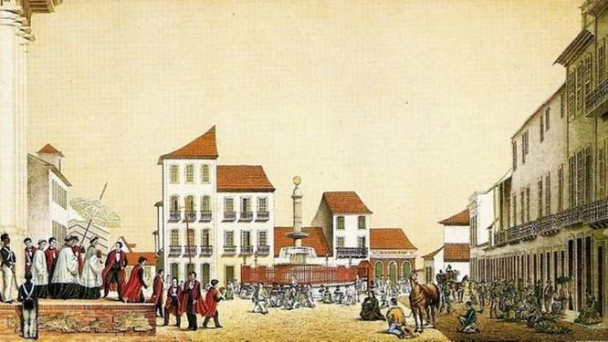 Uma das oito litogravuras furtadas da Biblioteca Nacional suspeitas de estarem expostas no Itaú Cultural Foto: Reprodução