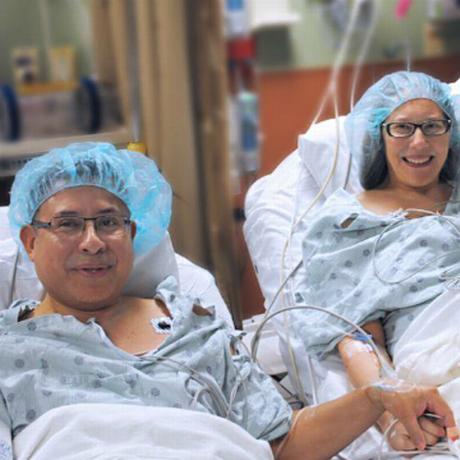 Cesar e Monica na sala de cirurgia Foto: Memorial Healthcare System