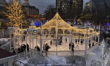 Neve. Este ano, o Tivoli está aberto pela primeira vez durante todo o inverno Foto: Claudia Sarmento / Fotos de Claudia Sarmento