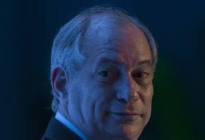 O pré-candidato do PDT, Ciro Gomes Foto: Edilson Dantas/Agência O Globo