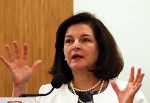 A procuradora-geral da República, Raquel Dodge, durante evento em Brasília Foto: Givaldo Barbosa / Agência O Globo