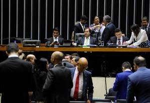 O presidente da Câmara, Rodrigo Maia, durante votação Foto: Luis Macedo/Câmara dos Deputados