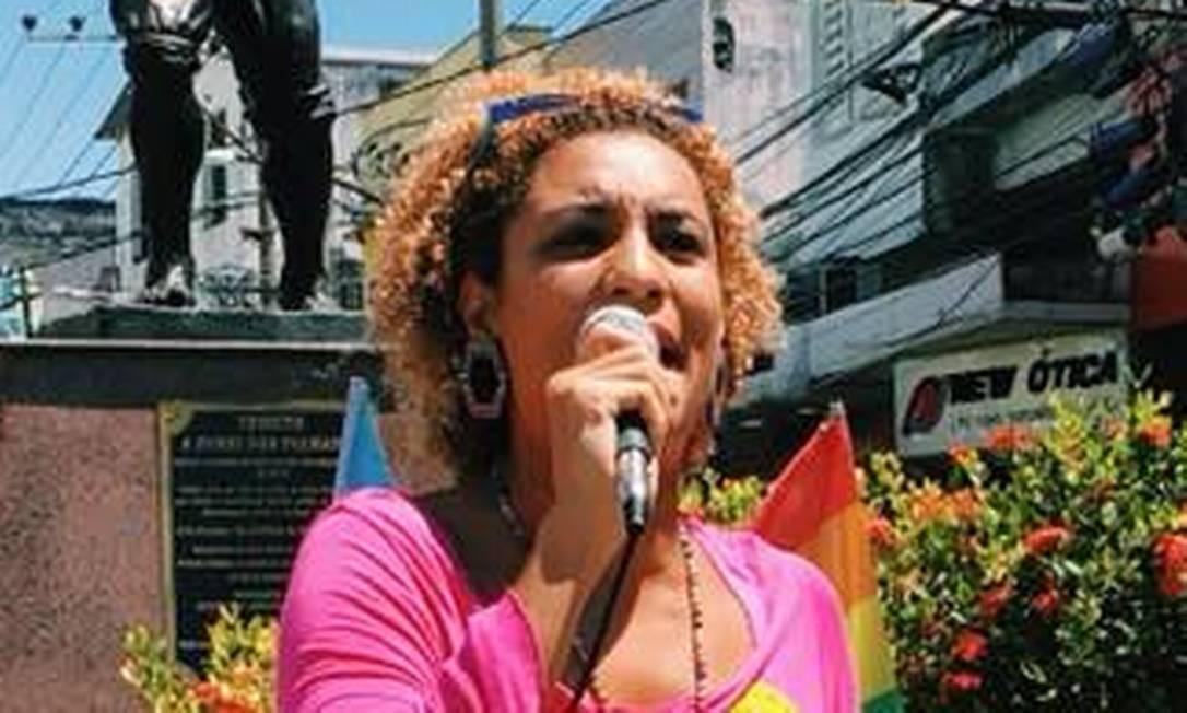 Marielle Franco durante evento do PSOL Foto: Reprodução Facebook
