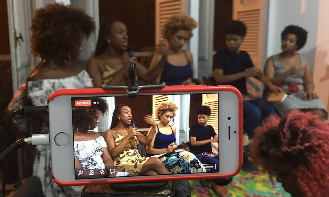 Marielle participou de uma roda de conversa horas antes de ser assassinada Foto: Divulgação/PSOL