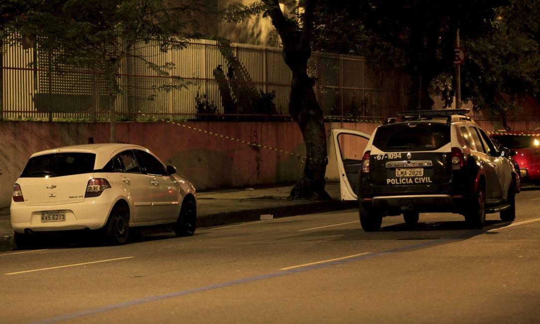 O carro da vereadora Marielle Franco (PSOL) Foto: Uanderson Fernandes / Agência O Globo