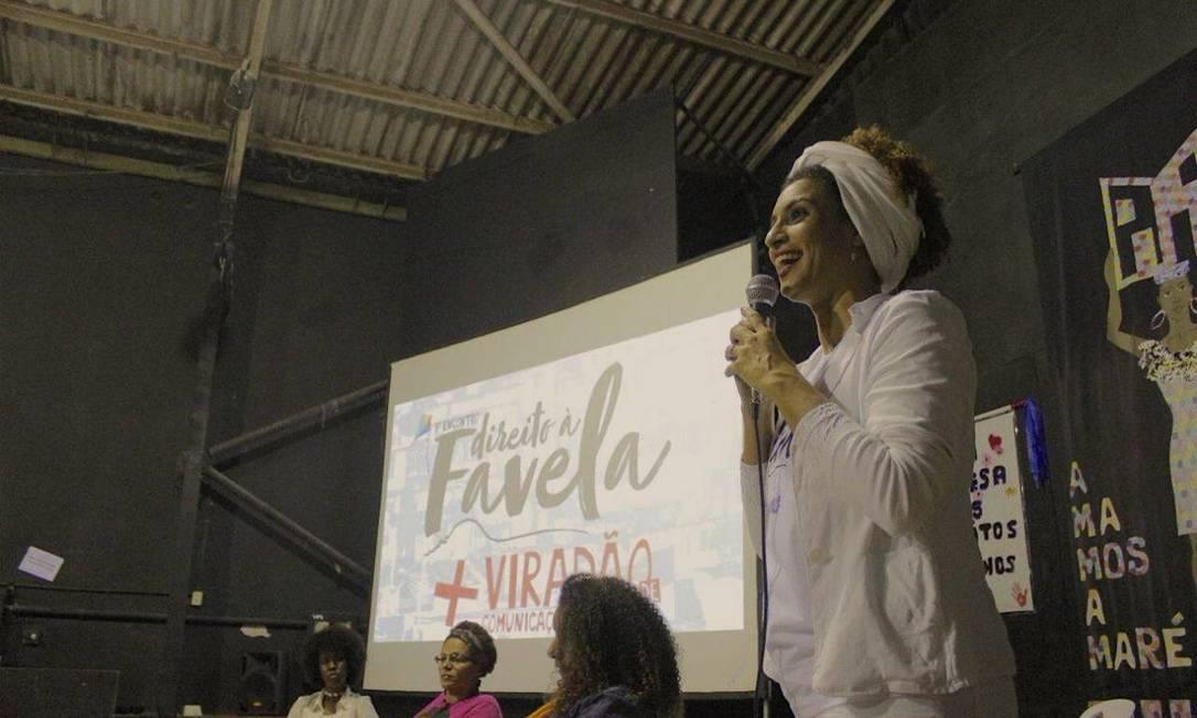 Em junho, ela participou de um debate no Museu da Maré sobre moradias Foto: Divulgação/PSOL