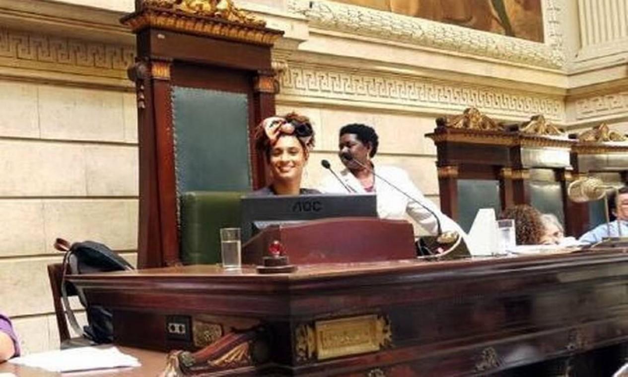 Marielle Franco chegou a comandar uma sessão na Câmara dos Vereadores do Rio Foto: Divulgação/PSOL